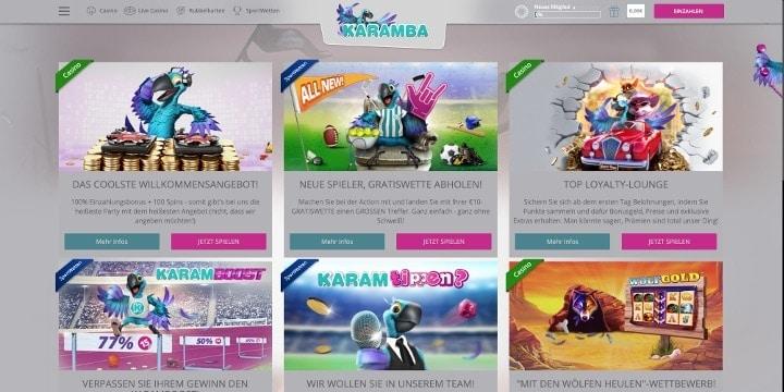 Karamba Sportwetten Aktionen