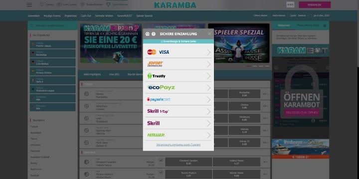 Karamba Sports Zahlungen