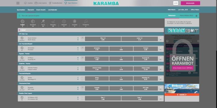Karamba Live Wetten