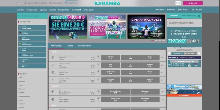 Sportwetten Karamba