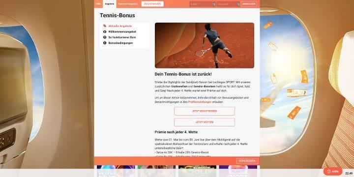 Bei LeoVegas auf Tennis wetten und Boni beim Tennis-Bonus sammeln