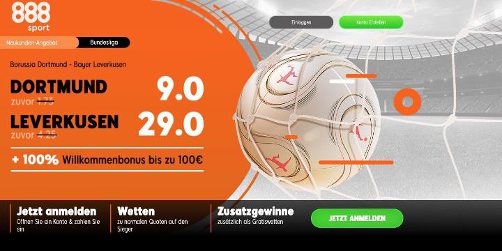 Auf das Spiel Dortmund gegen Leverkusen mit Top Quoten wetten
