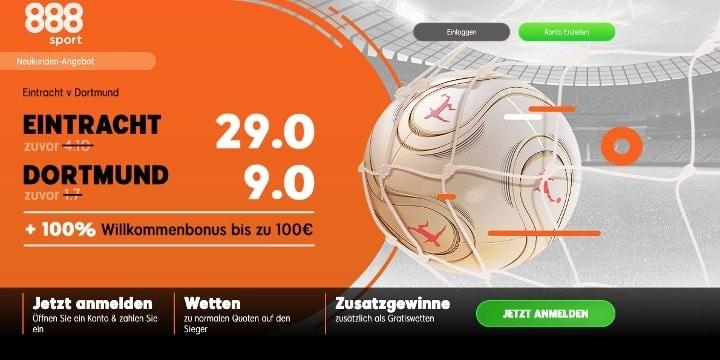 Auf das Spiel Frankfurt gegen Dortmund mit Top Quoten wetten