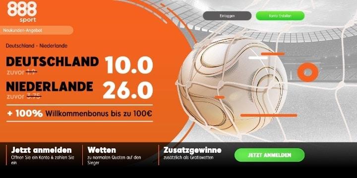 Auf die Partie Deutschland gegen Niederlande mit Top Quoten wetten