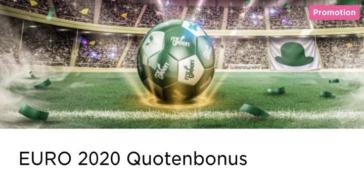 Ein 10% Quotenbonus für die EM-Qualifikation 2020 wartet bei Mr Green